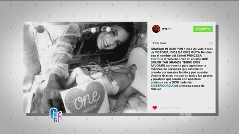 Wisin compartió en sus redes el fallecimiento de su pequeña Victoria con...