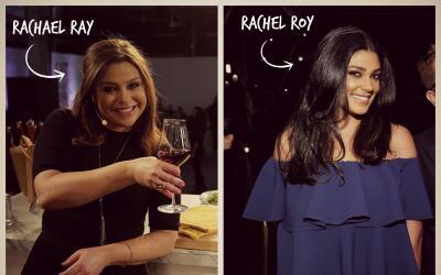 A la derecha la chef Rachael Ray, a la izquierda la diseñadora Rachel Roy