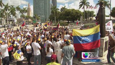 Venezolanos se unen al llamado de López