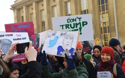 Imágenes de las multitudinarias marchas de las mujeres en Washing...