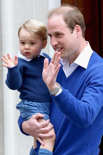El príncipe George fue el primero en conocer a su hermanita, como lo qui...