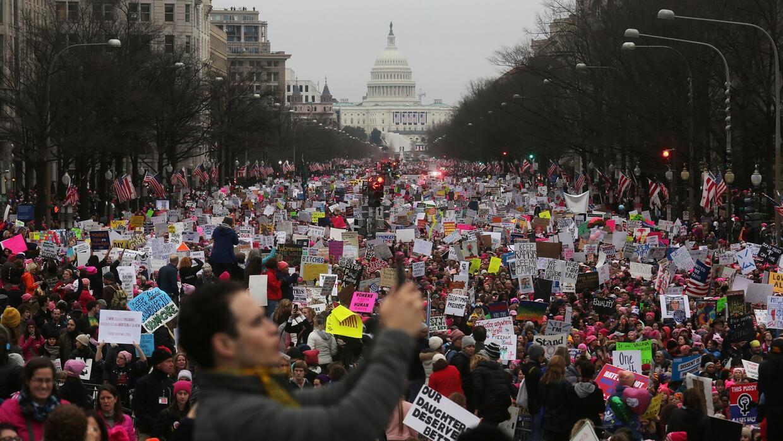 La marcha de las mujeres podría tratarse de la mayor movilización de pro...