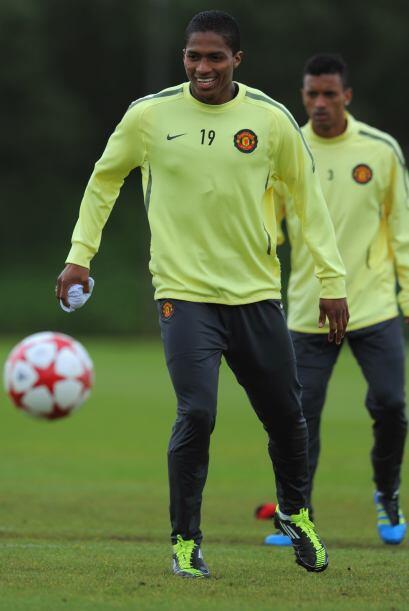 Otro de los que no esconde la sonrisa es el ecuatoriano Antonio Valencia...