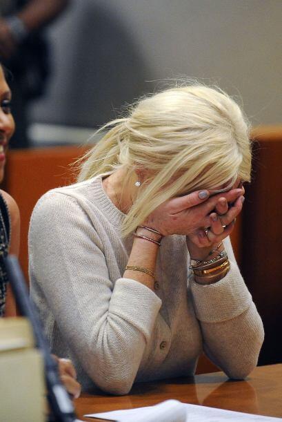 Lindsay rompió en llanto, esta vez de alegría, aún cuando todavía debía...