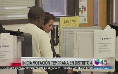 Inicia votación temprana en el Distrito 4