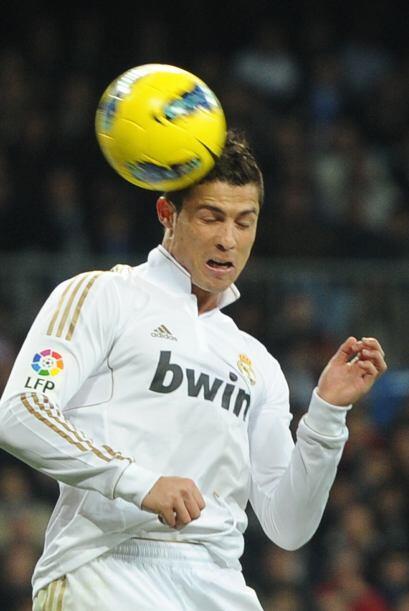 Parece que a Cristiano Ronaldo le asusta el balón.