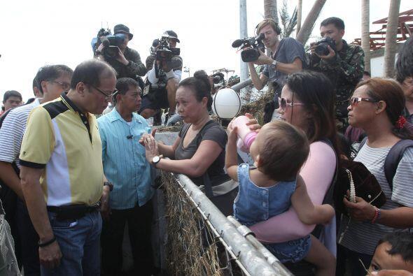 Antes de la llegada del tifón, varias ONG se desplazaron a la zona.
