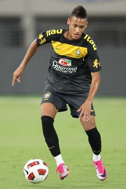 Neymar fue la gran revelación del certamen, el juvenil del Santos integr...
