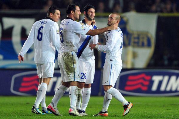 Los interistas se pusieron en ventaja gracias a Wesley Sneijder.