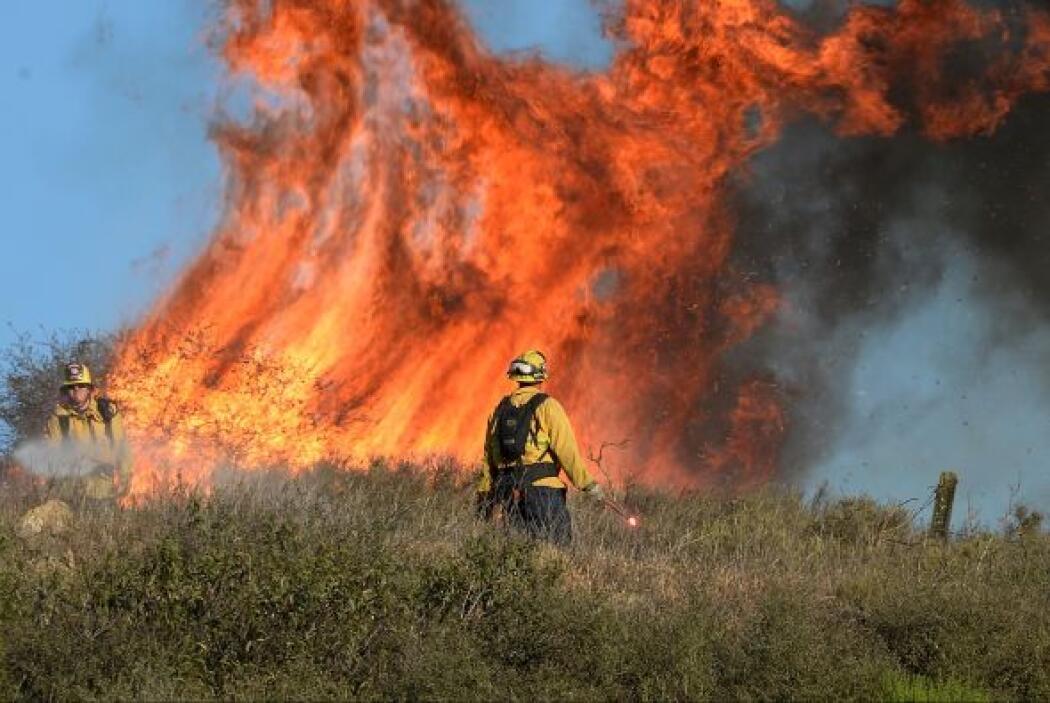 El incendio Springs, que consumió más de cuatro mil hectáreas en unas ho...