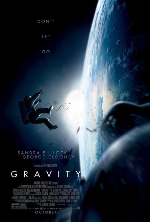 """Alfonso Cuarón: """"Extraño de donde soy y de donde vengo"""" gravity poster 1..."""