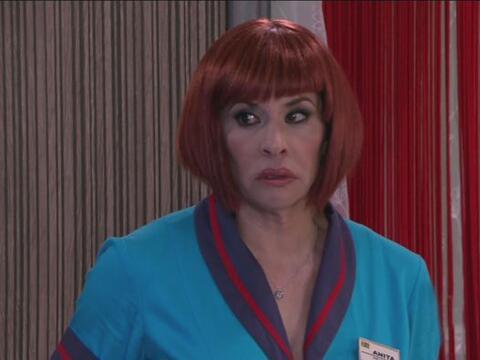 Anita llegó con Cipriano para decirle que tenía que hablar...