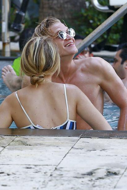 La pareja disfrutó del buen clima en Miami.