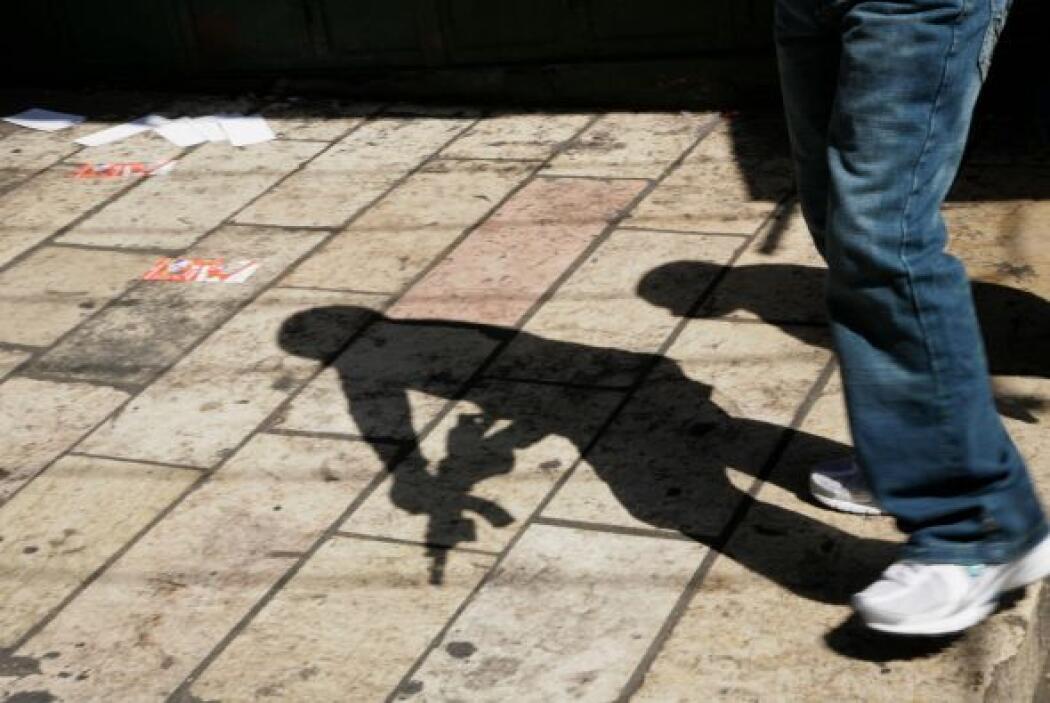 El jovencito, identificado como Cristian García Martínez, dice a un entr...