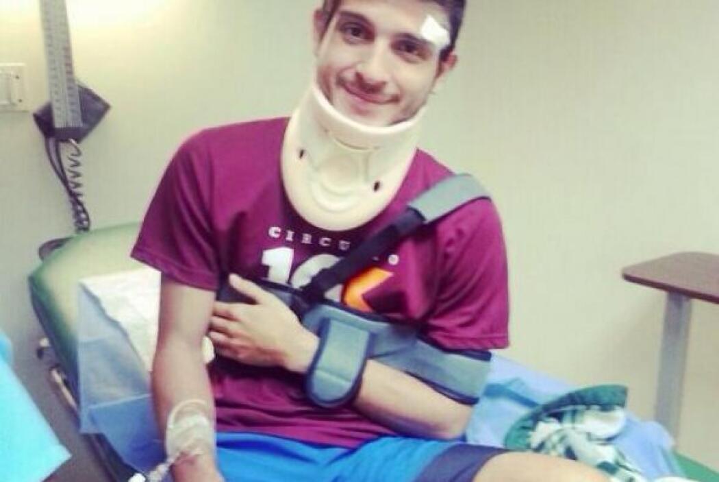 El estudiante Bentran Carias subió a su cuenta de Twitter una foto donde...
