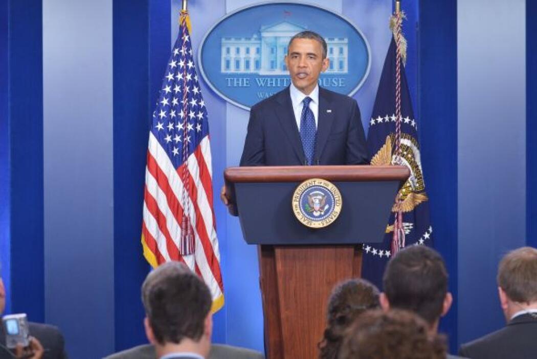 Al respcto, Obama dijo haber conversado con el director del FBI y con lo...