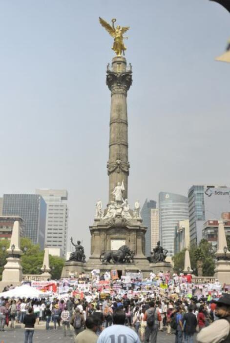 Pero las protestas no solo se dieron en Ciudad de México.