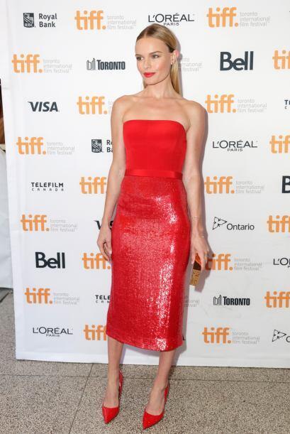 Kate Bosworth optó por ser monocromática en el Festival Internacional de...