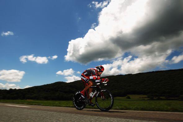 La novena prueba consistió en una contrarreloj de 41,5 km entre Arc et S...