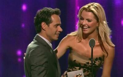 Marc Anthony y Marjorie tuvieron un encuentro cercano en Premio lo Nuestro