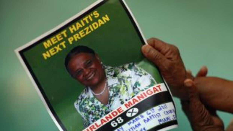 Candidata a la presidencia Mirlande Manigat