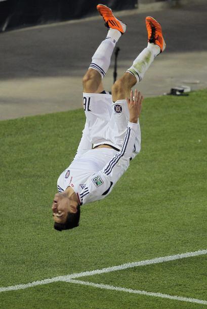 Así festejó Marco Pappa, jugador del Chicago Fire el gol d...