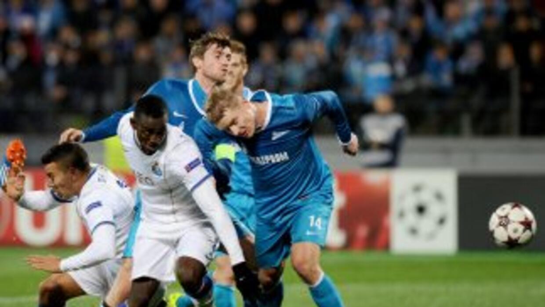 Con un penalti fallado por Hulk, el Zenit no pudo más que sacar un empat...