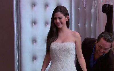 Ana Patricia se hizo las pruebas para su vestido de novia