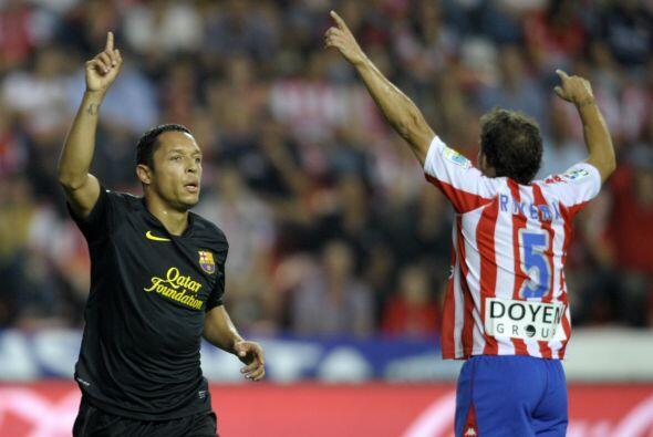 Los barcelonistas visitaron al Sporting de Gijón, un equipo que s...