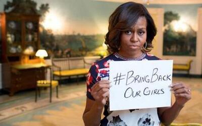 Michelle Obama apoya el regreso de las jóvenes secuestradas en Nigeria
