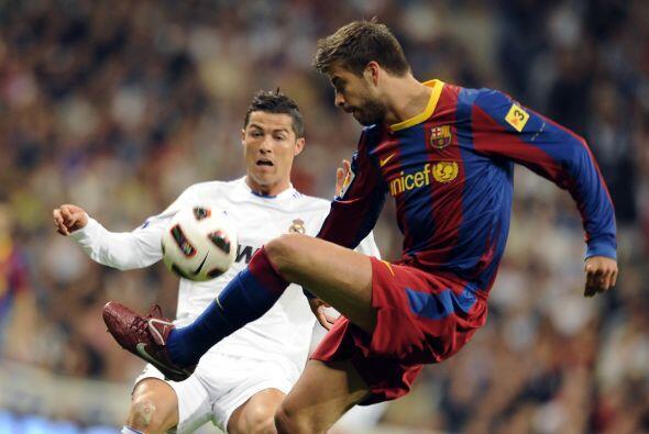 Piqué hizo un buen marcaje de Cristiano Ronaldo.