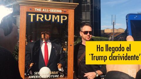 Una misteriosa figura de Trump que adivina el futuro sorprende a Nueva York