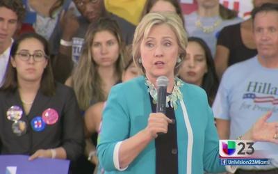 Hillary Clinton regresa para hacer campaña al sur de Florida