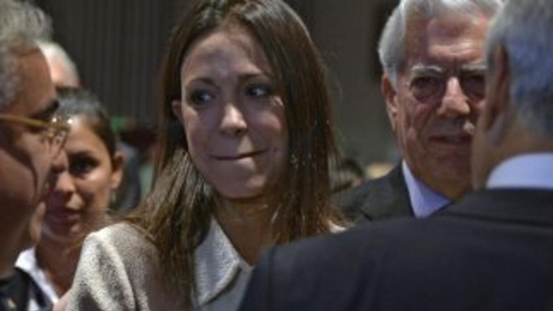 María Corina Machado en Perú con Mario Vargas Llosa, premio Nóbel de Lit...
