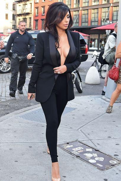 ¡Este 'modelito' fue con lo último que Kim nos presumió sus encantos! El...