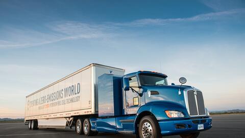 El camión tráiler eléctrico de Toyota
