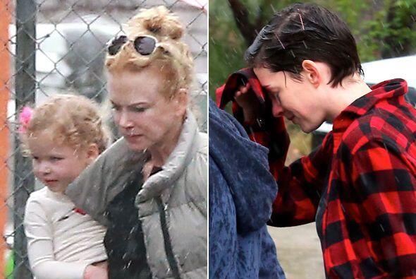Las dos actrices ganadoras del Oscar sufrieron los estragos del clima. M...