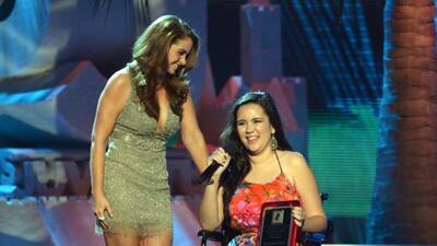 Andrea Viejo fue seleccionada por la gente como la primera Súper Heroína...