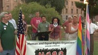 Demonstracion al frente del capitolio
