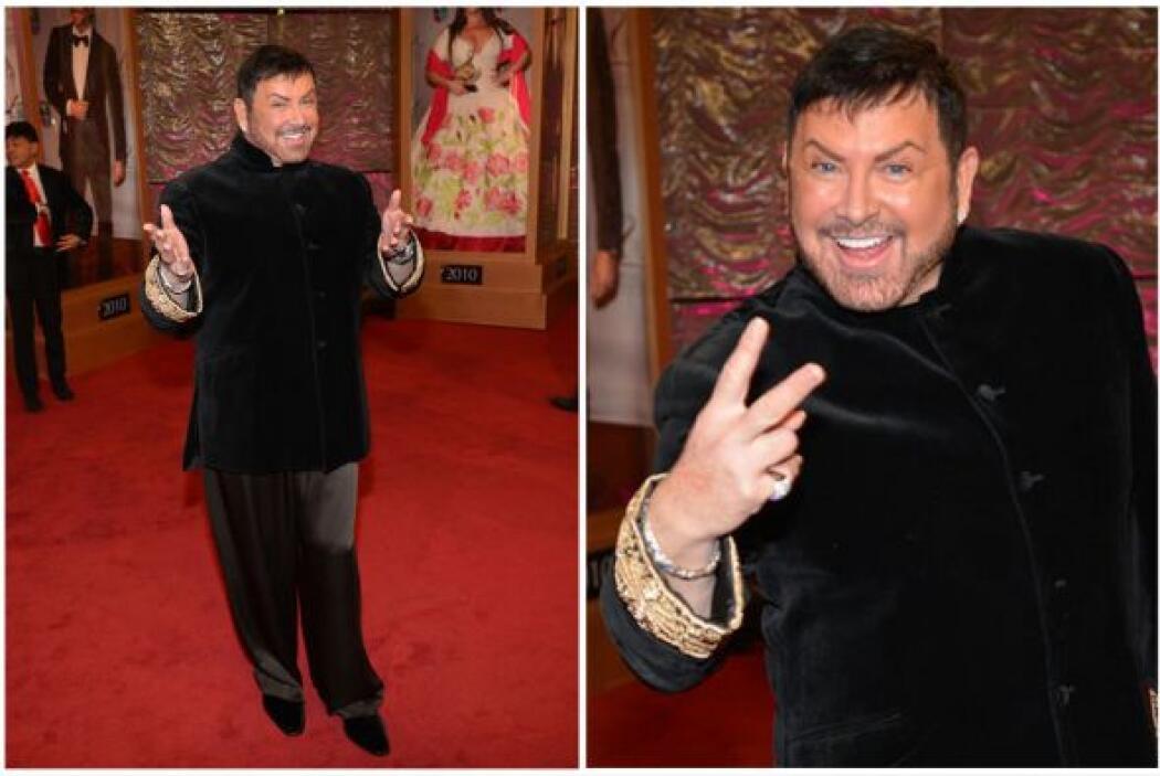 El estilista de las estrellas estuvo preparado para un show inolvidable.