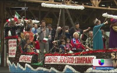 Gran desfile del Columbus Day en Chicago