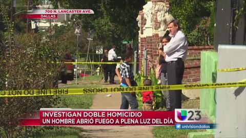 Hombre abre fuego matando a dos personas a plena luz del día