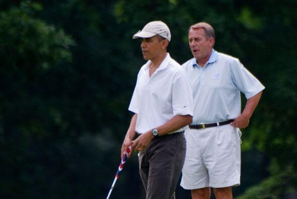 El juego en el campo de golf tuvo como telón de fondo las negocia...