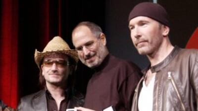 A Steve Jobs le gustaba estar con artistas de todo el mundo, aquí U2.