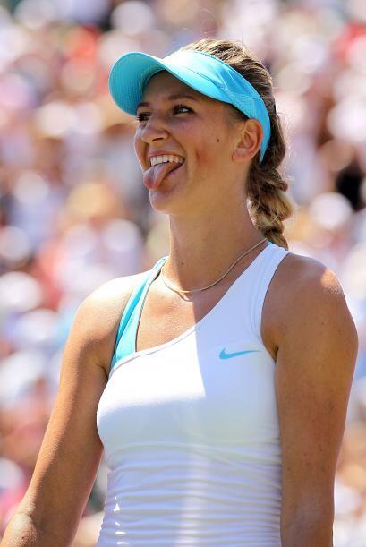 No todo fue estrés ya que se notó que las tenistas se divi...