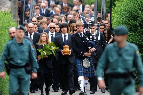 El funeral se llevó a cabo en la localidad santanderina de Pedreña, dond...