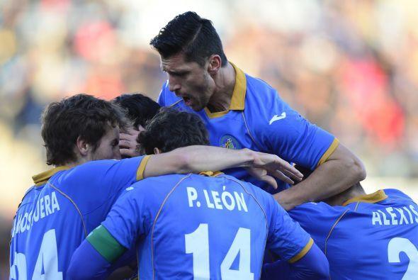 Sergio Escudero le daba el 1-0 al 'Geta' con tan solo 10 minutos disputa...