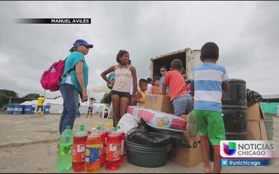 Chicago se solidarizó con Ecuador enviando toneladas de ayuda