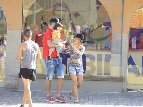 Encontramos a Shakira, Milan y Gerard en el parque de diversiones Tibida...