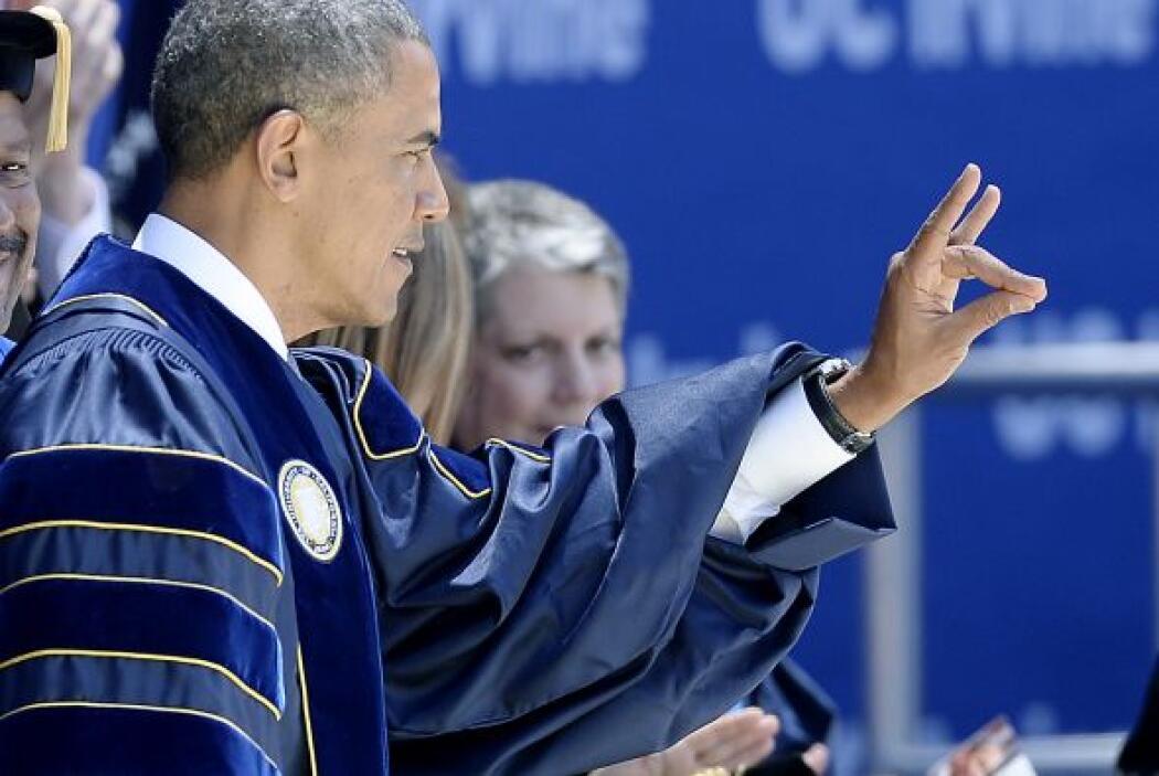 Obama también manifestó que el cambio climático sigue siendo uno de los...